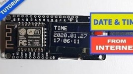 ESP8266 OLED – Get Time and Date From Internet