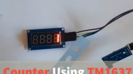 Counter Using TM1637 LED Display & Obstacle Avoidance Sensor