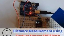 Distance Proximity Measurement With Gesture Sensor APDS9960