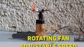 Rotating Fan Using Servo Motor and Speed Control