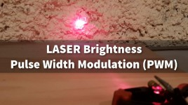 Arduino LASER Brightness Pulse Width Modulation PWM
