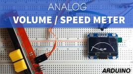 Analog Speed or Volume Meter With Arduino