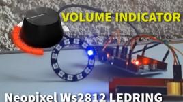 Volume Indicator Neopixel Ws2812 LED Ring & Arduino