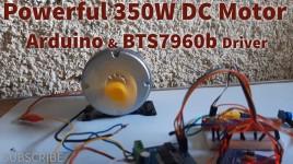 Control Powerful Electric Skateboard E-Bike 350W DC Motor Using Arduino and BTS7960b