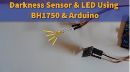 Darkness Sensor and LED Using BH1750 & Arduino
