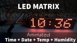 LED Matrix Animated Time,Date,Temp and Humidity