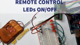 Control LEDs ON/OFF With 433MHz RF Remote and Arduino