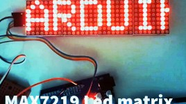 CONTROL LED MATRIX MAX7219 WITH ARDUINO