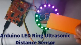 Arduino LED Ring Ultrasonic Distance Sensor